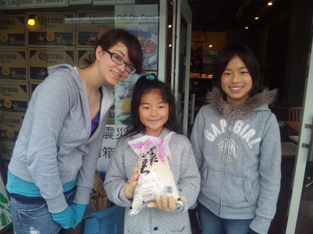 Family English Schools Students Donate Rice for Tohoku Victims