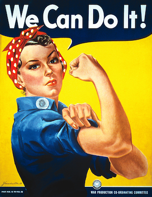 we can do it WWII war propaganda picture